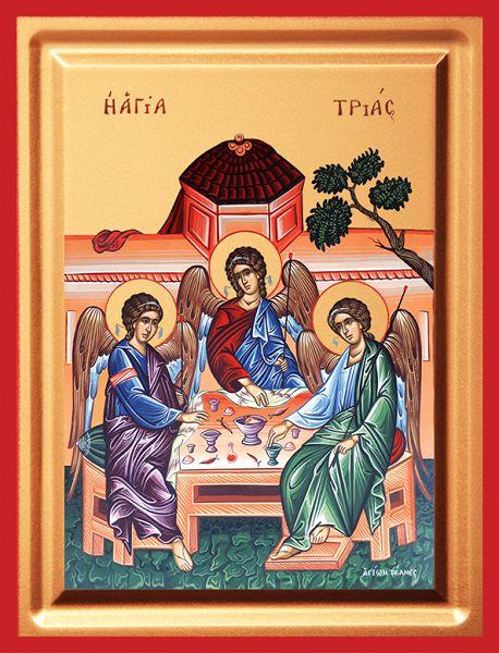 Η Αγία Τριάδα με τη μορφή τριών Αγγέλων