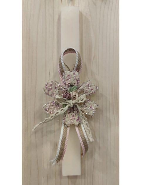 Χειροποίητη πασχαλινή λαμπάδα λουλούδι