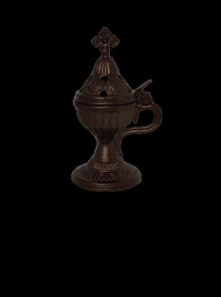 Θυμιατό Μεταλλικό Άλφα Καφέ