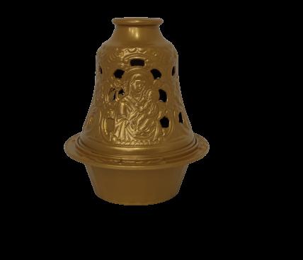 Gold metal bell lamp
