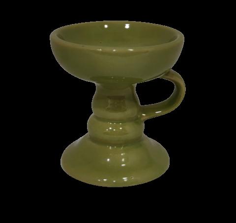 Πήλινο θυμιατό σε πράσινο χρώμα