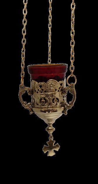 Εκκλησιαστικό Καντήλι Κρεμαστό Μπρούτζινο Χρυσό
