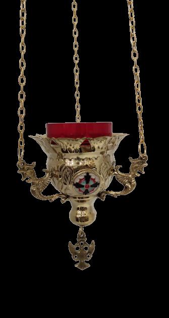 Εκκλησιαστικό Καντήλι Κρεμαστό Χρυσό