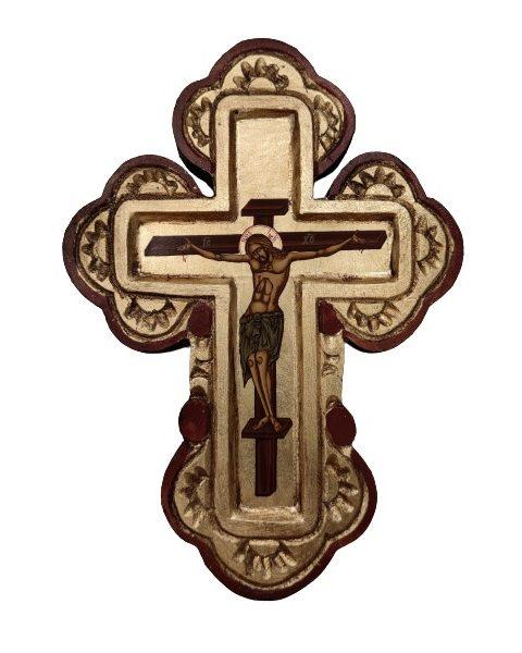 Ξύλινος σταυρός τοίχου με τον Εσταυρωμένο